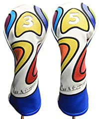 Featuring Majek Golf Vintage Golf Head cover. Center Elastic band ensures that the Head cover will stay on your driver even when your golf cart is bouncing on the cart path. The PU Leatherette exterior and plush interior will guarantee your c...