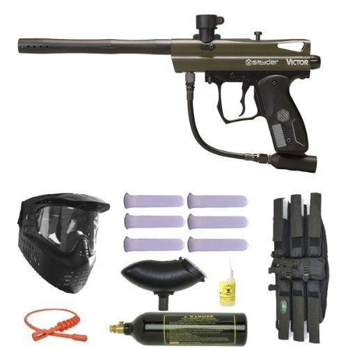 Spyder 2012 Spyder Victor Paintball Gun Marker Mega Package, (Spyder Hopper)