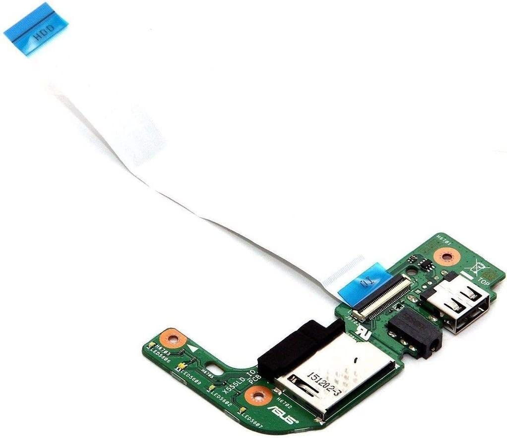 Compatible for Asus X555L X555LD Audio USB Card Reader IO Board /& Cable REV 2.0 60NB0620-IO1030