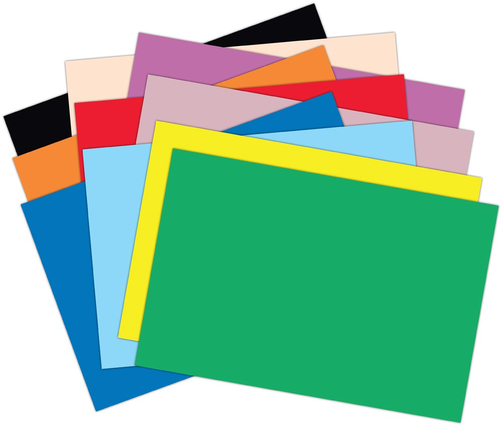 amazoncom roselle vibrant construction paper 50 count 12 x 18 inches assorted con00121850 office products