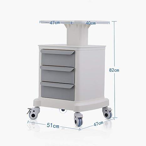 Piattaforma Ospedale Farmaci Trolley Multifunzionale Strumento Di Rotolamento Carrello TC Medical Instrument Carrello con Tre Strati Di Spinta a Mano