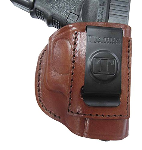 Tagua IPH4-223 Colt Mustang 380 Four in One Holster, Brown, Left Hand