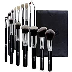 FEIYAN 15 piece essential makeup brushes set is a premium quality makeup brush set for professional makeup artists and also recommended for beginners. Material : Brush Hair: synthetic & goat hair , Brush Handle: wood black brush handle, F...