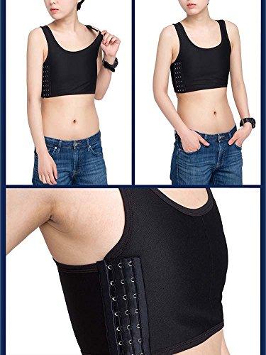 Women Chest Binder Breathable Flat Slim Vest Tops Sports Undershirt Black M - Buy -7277