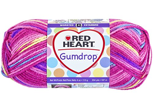 - Red Heart Gum Drop 100% Acrylic Yarn - 204 yds - 4oz (113 g) skein - Cherry