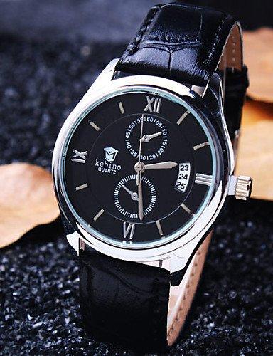 qfdzhs® Reloj Redondo calendario Rome de alta gama de la moda vida de los negocios
