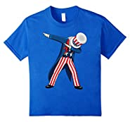 Funny Dabbing Uncle Sam 4th of July Independence Day T-shirt