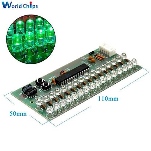 デュアルチャネルMCU調節可能な表示パターンLED VUメーターレベルインジケータ16 LED B076KQTHGZ