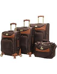 Caribbean Joe Luggage Castaway 4-Piece Spinner Suitcase Set