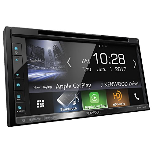 Kenwood DDX6703S 6.2'' Inch Touchscreen Double-DIN CD DVD Player Car Stereo Receiver with Apple Carplay - Bundle Combo With Metra 95-5812 Black Installation Kit for Select 2004 and Up Ford Vehicles by EnrockAutomotiveBundle (Image #2)