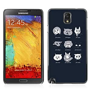 Designer Depo Hard Protection Case for Samsung Galaxy Note 3 N9000 / Cat Types