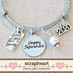 2020-RETIREMENT-Gift-Bangle-Bracelet-Find-Joy-in-the-Journey-Congratulations-Gift-2020-Retirement-Bracelet-Happy-Retirement-Gifts-for-Women