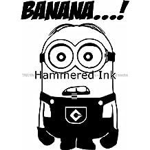 Despicable Minion Banana! Die Cut Vinyl Car Decal Wall Sticker