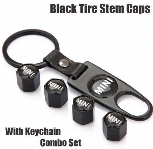 mini-cooper-black-tire-stem-valve-caps-and-black-keychain-combo-set