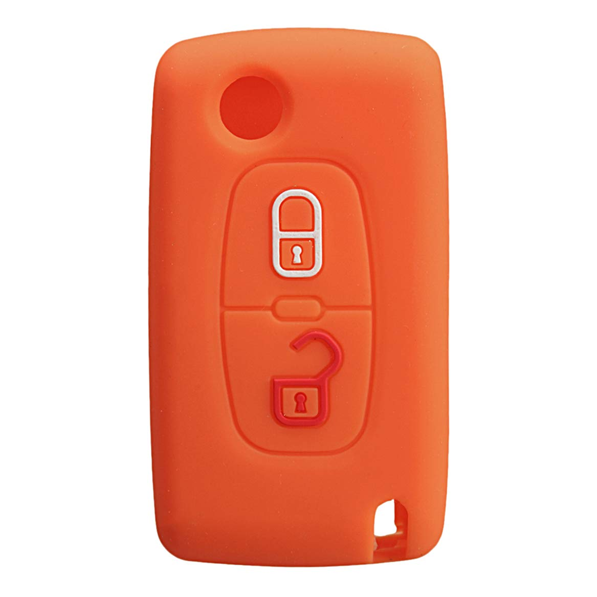 Car Electronics & Accessories Accessories Interior Accessories 2 Buttons Silicone Car Key Remote Case/Bag Cover Holder for Peugeot 2007 3008 807 Color: Red