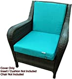 QQbed 2 Pack Outdoor Patio Chair Washable Cushion