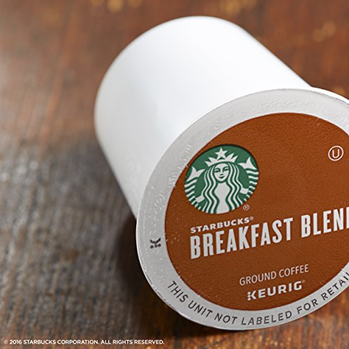 Large Product Image of Starbucks Breakfast Blend Medium Roast Single Cup Coffee for Keurig Brewers, 6 Boxes of 10 (60 Total K-Cup pods)
