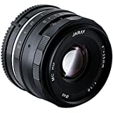 JARAY Sharp 35mm f/1.6 Standard Manual Focus Prime Lens for M4/3 micro four thirds System Mirrorless Cameras APS-C Black Metal Barrel
