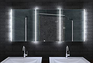 Spiegelschrank Bad Mit Beleuchtung.Alu Badschrank Badezimmer Spiegelschrank Bad Led Beleuchtung