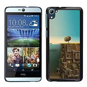 Ciudad Subterránea - Metal de aluminio y de plástico duro Caja del teléfono - Negro - HTC Desire D826