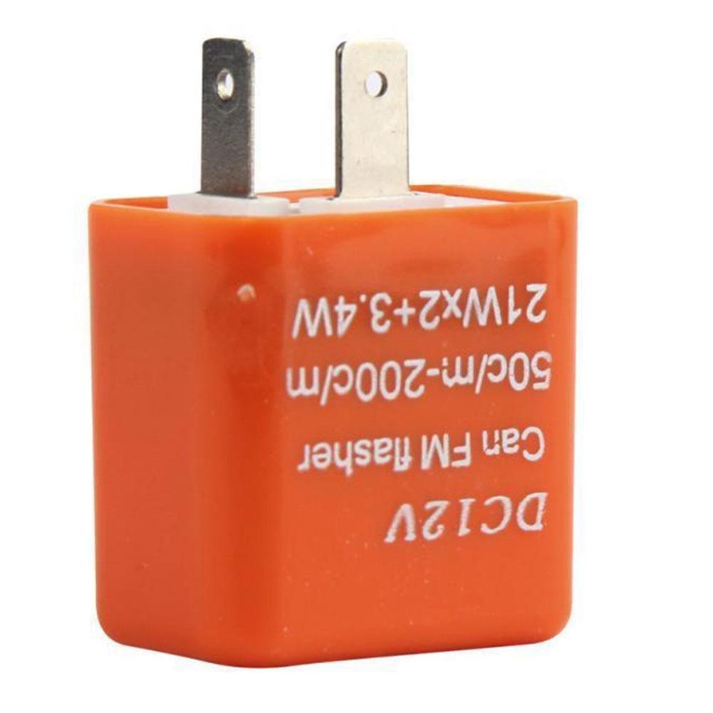 Rungao 12 V 2 Pin fré quence ré glable LED RELAIS clignotant pour moto Tour Signal