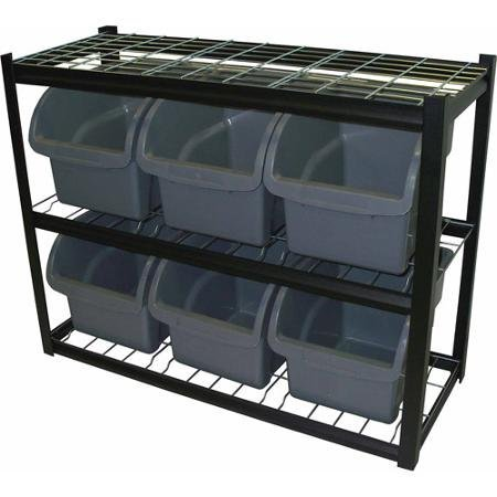Edsal Steel Bin Shelving Unit, IBU421633 by Supernon