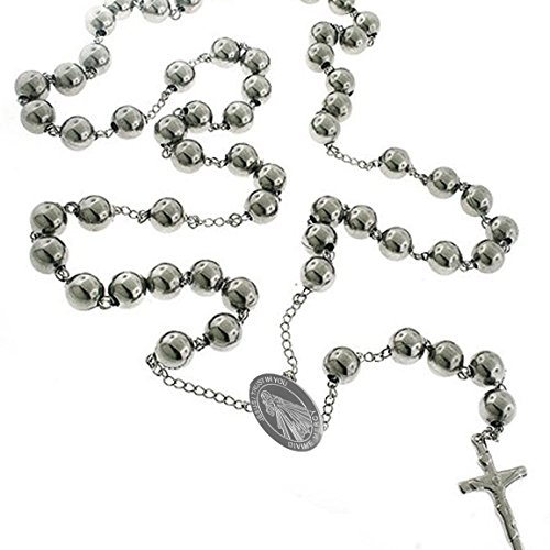 Unique Divine Mercy Catholic Stainless Steel Rosary Beads 24
