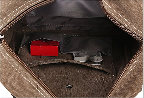 Black Shoulder Messenger Retro Laidaye Bag Backpack Business Leisure Multi Travel purpose wvqEv5T