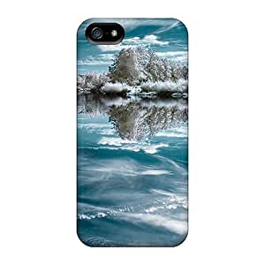 (Tle12770jAQm)durable Protection Cases Covers For Iphone 5/5s(mirror Of Ice)