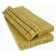 48 Rockwool Grow Cubes (1.5 Inches) - Growing Medium Starter Sheets (48 Per Pack)