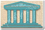 World History: The Five Pillars or Civilization, Classroom Poster
