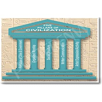 world history the five pillars or civilization classroom poster