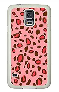 Pink Leopard 2 PC White Hard Case Cover Skin For Samsung Galaxy S5 I9600