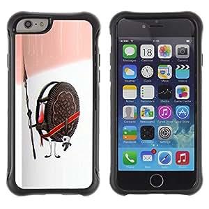 Paccase / Suave TPU GEL Caso Carcasa de Protección Funda para - Cookie Guardian Warrior Soldier Sweets Sugar - Apple Iphone 6 PLUS 5.5
