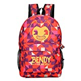 YOUNELO Student's Fashion Bendy And The Ink Machine Printing Leisure Rucksack School Backpack(b7)