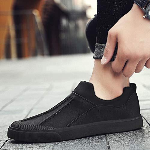 Mocassins YH légères Microfibre Noir à Hommes Chaussures Confortables Chaussures élégants Cyclisme Semelles coulissants de Chaussures en décontractées de Pois Marche Chaussures 4rq4t