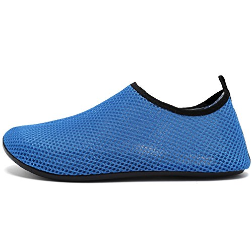 Cior Hommes Et Femmes Pieds Nus Peau Aqua Chaussures Anti-dérapant Multifonctionnel Chaussures De Leau Pour Plage Piscine Surf Yoga Exercice Blue05
