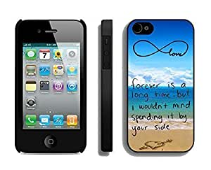 Apple iphone 6 4.7 Case Durable Soft Silicone TPU Black Cell Phone Case Cover Protector for iphone 6 4.7 Pop infinity anchor with love and sandy beach design