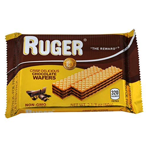 Ruger Wafers, Chocolate, 2.-1/8 Ounce (Pack of 48)