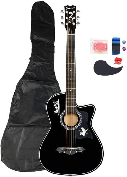 DK-38C - Juego de cuerdas para guitarra (madera de tilo, con ...