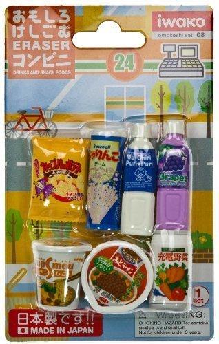 Iwako Blister Konbini Getränke und Snacks - Iwako Sammlerstück Radiergummi-Serie # 08 (japanischen Import)