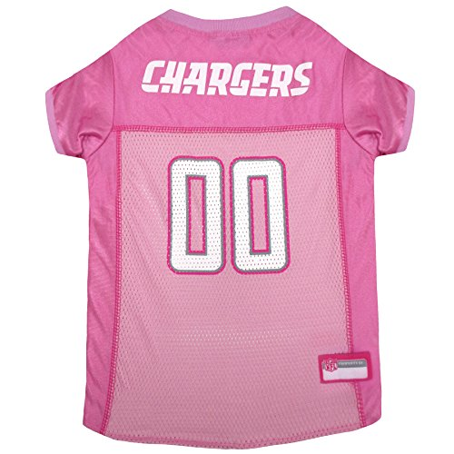 Los Angeles Chargers Dog Jersey Pink, Medium. - Football Pet Jersey in - Jersey Ravens Baltimore Scarf