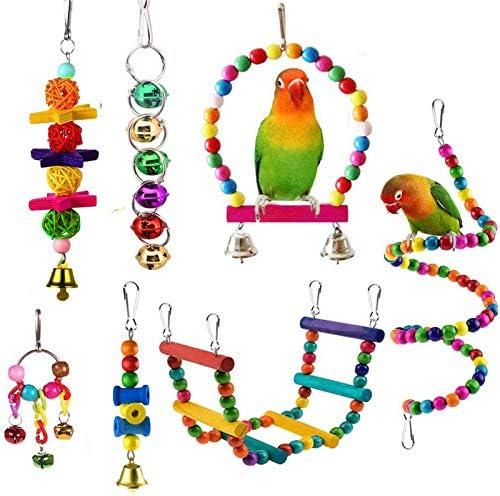 esrise-7-pcs-bird-parrot-toys-hanging