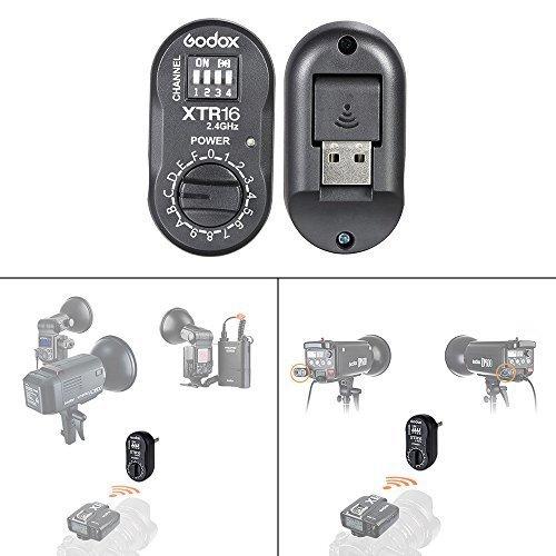 Godox XTR-16 Wireless 2.4G Remote Control Flash Receiver for X1C X1N XT-16 Transmitter Trigger Wistro AD360/DE/QT/DP/QS/GS/GT Series