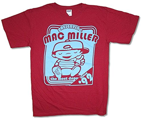 Mac Miller Presenting Most Dope Since 1992 Red T Shirt - Mac Miller Apparel