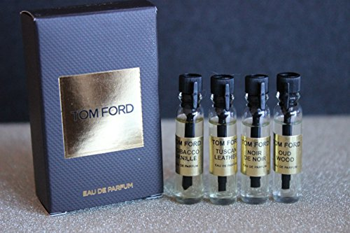 Tom Ford MINI 4 samples. Tobacco Vanille, Tuscan Leather, Oud Wood ...