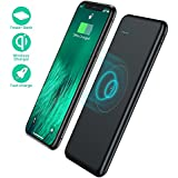 TOVAOON Wireless Portable Charger,10000mAh Wireless Charger Power Bank External Battery Pack Compatible with iPhone 8/8 Plus,Samsung S7 S8 S9,Note 7 8,iPhone X/XS/XR(Black)