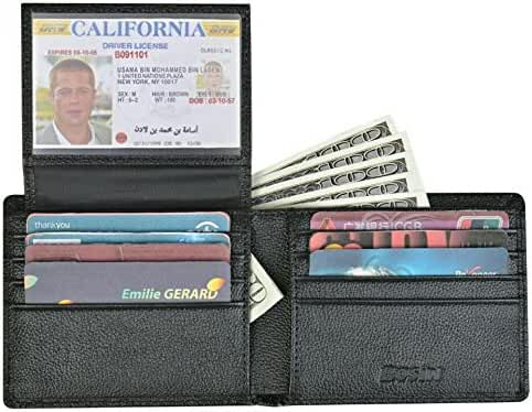 RFID Blocking Stylish Leather Wallet for Men Credit Card Protector