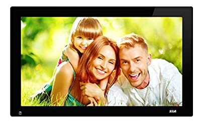 SSA 21.5 Inch Full HD 1080P Widescreen Digital Photo Frames with Motion Sensor for Tabletop or Wall Mount Use,16GB USB Stick, Support Photo,Music & Video,HDMI VESA 1920x1080 pixel 16:9 by SSA