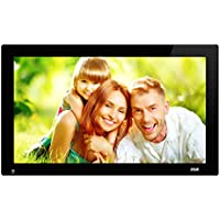 SSA 21.5 Inch Full HD 1080P Widescreen Digital Photo Frames with Motion Sensor for Tabletop or Wall Mount Use,16GB USB Stick, Support Photo,Music & Video,VESA 1920x1080 pixel 16:9